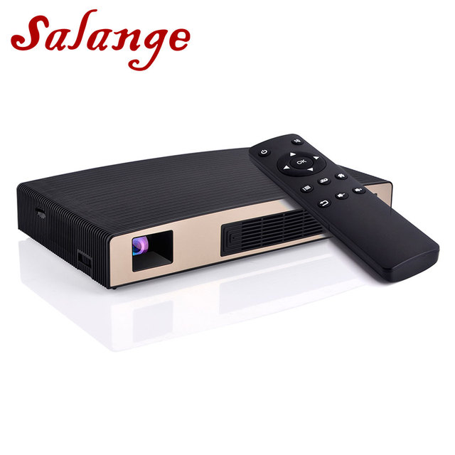 Special Price Salange P8 Mini Portable Projector Android Dual WIFI Bluetooth Mini Beamer 8400mAh Battery Projetor Home Theater