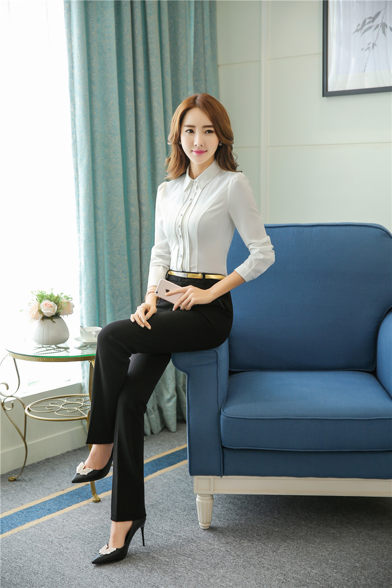 Formal Pantsuits Women Business Suits with Pants and Top Sets ...