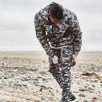 2018 New Fashion Men Camouflage Gyms Sets Men Long Sleeved Hoodies Pants Two Piece Male