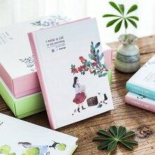 Корейская кавайная Цветочница с кошками, креативная сетка, ежедневный Еженедельный ежемесячный молочный дневник, дневник, планировщик, Студенческая тетрадь, А5