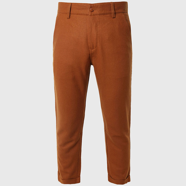 Chinos Casual Pants Men Capri Pants Slim Male Trousers Work Mens Tights Bottoms