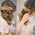 E15122903 New Áustria Cristal Nupcial Tiara Do Casamento Flor Artesanal Creme Imite Pérola Cabelo Pentes de Jóias de Prata Banhado