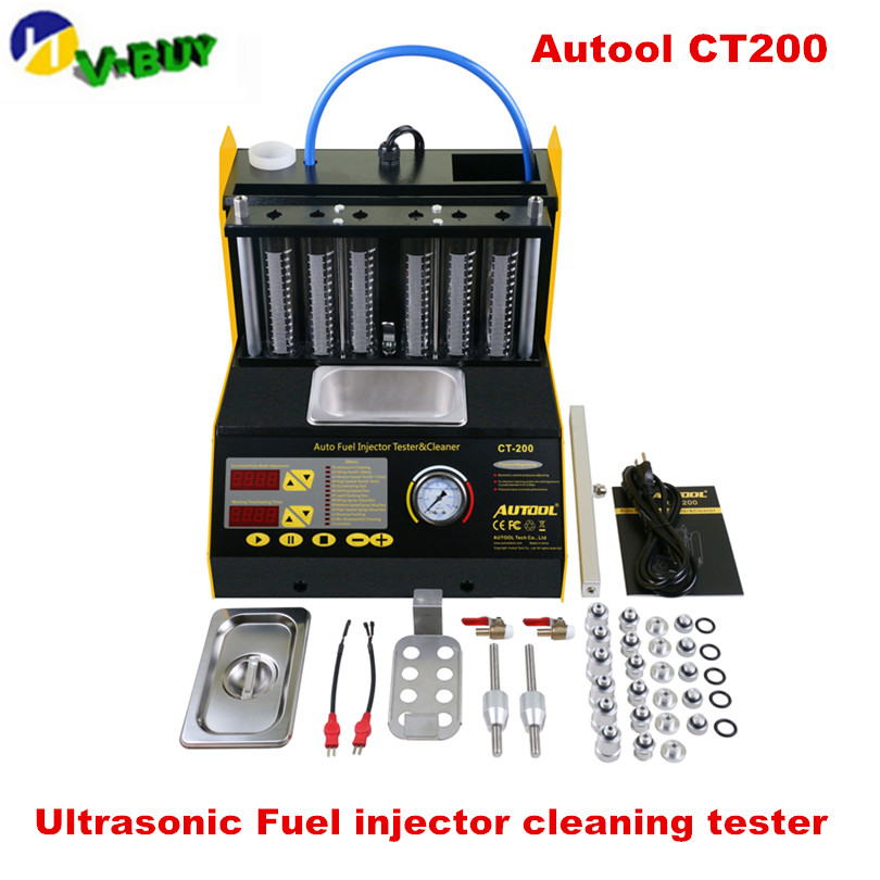 CT200 gasonline 6/4 cylinder Car Motorcycle Auto Ultrasonic Injector Cleaning Tester machine 220/110V Better than Launch <font><b>CNC602A</b></font> image