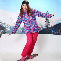 2016 Womens Winter Suit Ski Suits For Women Skiing Jacket Women Outdoor Waterproof Windproof Warm Snowboard