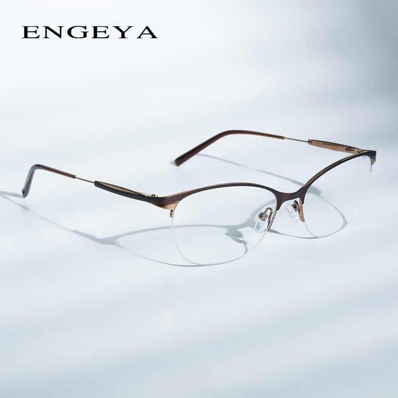 8dc2945af35 Fashion Metal Glasses Frame Women Optical Retro Clear Computer Myopia Brand  Designer Prescription Eyewear Frames Women