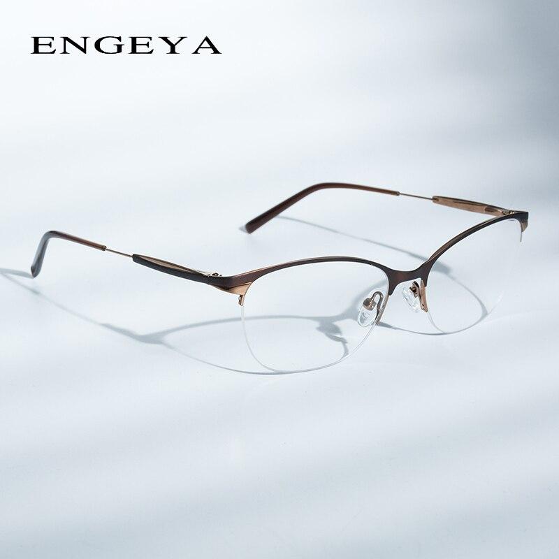 Hot Sale Fashion Metal Glasses Frame Women Optical Retro Clear ...