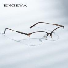 Óculos De Metal moda Armação Óptica Mulheres Retro Limpar Computador Miopia  Grife Prescrição Óculos Frames Mulheres  184 f474ae57ab