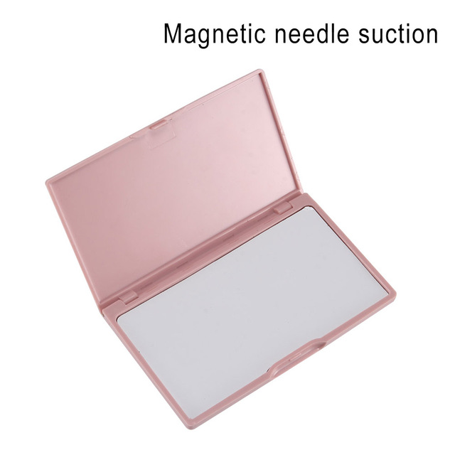 Portable Needle Storage Case Plastic Sewing Pins Organizer Magnetic Container can CSV