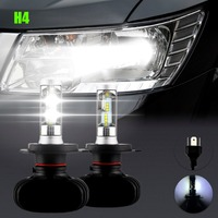 2Pcs Super Bright H4 Led Bulb Fog Light Auto Car Headlight S1 N1 50W 8000LM 6000K