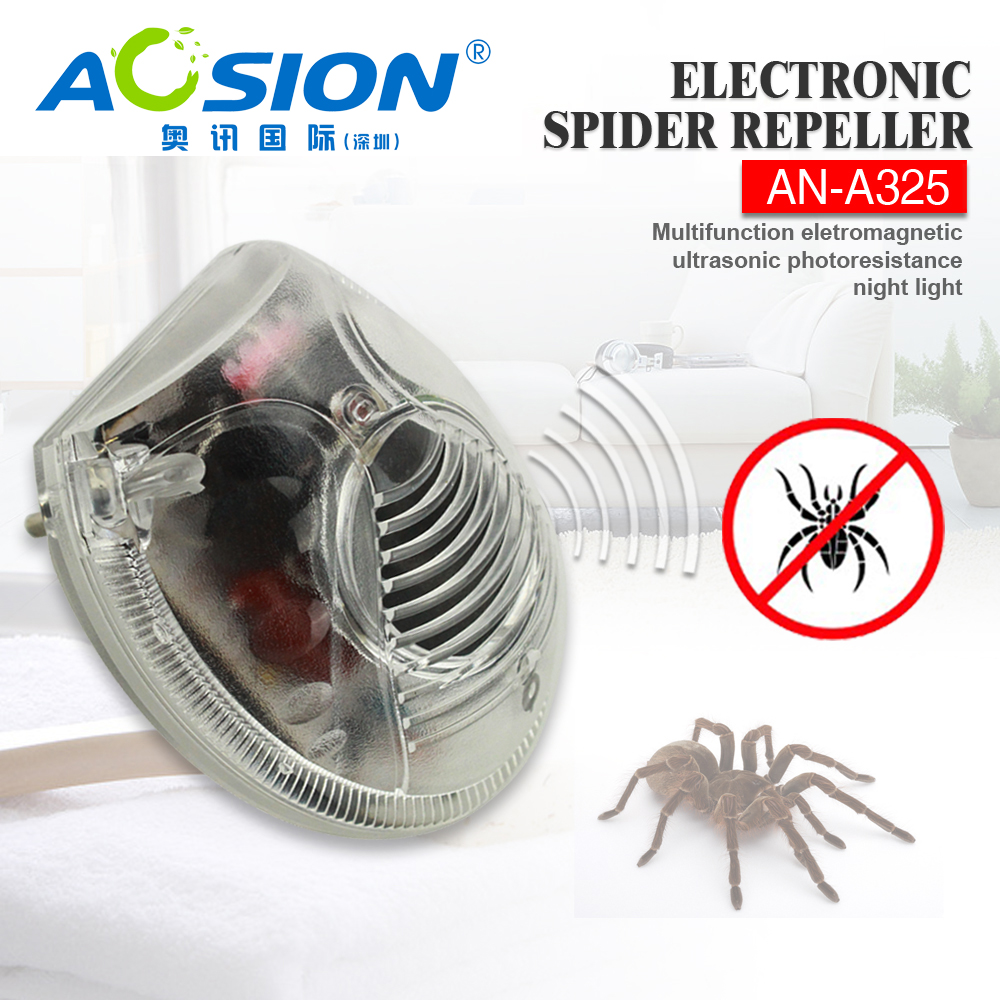 2 x Home Aosion Eletronic & ultrasonic bugs / spider repellent  ultrasonic rat repeller pest repeller with LED night light аккумулятор ryobi one rc18120 150 18 в 5 0 а ч li ion зарядное устройство rc18120