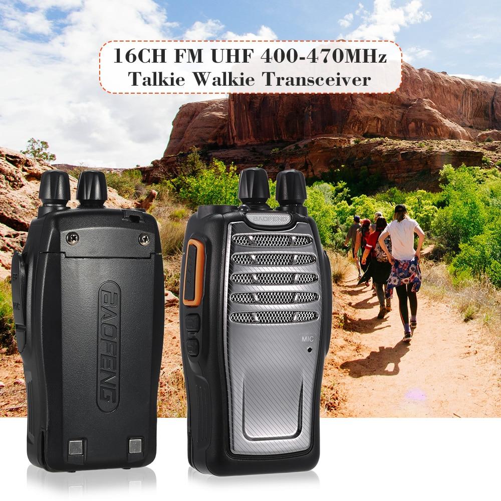 2 Pcs 16ch Fm Uhf 400-470 Mhz Talkie Walkie Transceiver Two Way Radio Handheld Sprech Fern 1800 Mah Batterie Taschenlampe Niedriger Preis