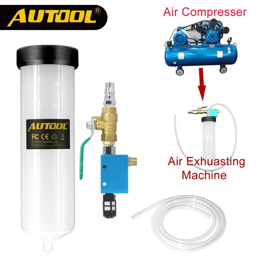 AUTOOL C20 coche purgador de líquido de frenos cambio de aceite herramienta Auto embrague hidráulico de aceite de bomba de vacío de drenado Kit