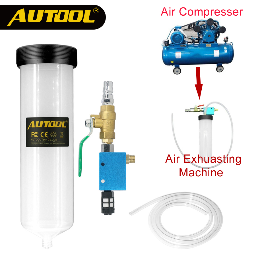 AUTOOL C20 Car Brake Fluid Bleeder Change Oil Tool Auto Hydraulic Clutch Oil Replacement Pump Empty Exchange Drained Kit car vehicle brake fluid replacement tool pump oil bleeder empty exchange equipment