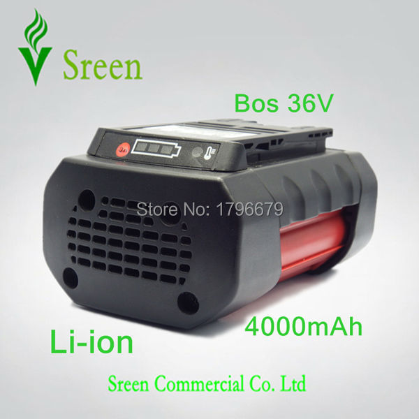 Spare 4000mAh 36V Lithium Ion Rechargeable Power Tool Battery Replacement for Bosch D-70771 BAT810 2 607 336 107 BAT836 BAT840 3pcs 4000mah lithium ion replacement rechargeable power tool battery for bosch 36v 2 607 336 108 bat810 bat836 bat840 d 70771