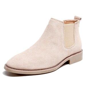 Image 5 - Misalwa צ לסי מגפי גברים זמש עור הגון גברים קרסול מגפי מקורי זכר קצר נעליים יומיומיות בריטי סגנון חורף אביב אתחול