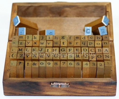 70pc Set Of Alphabet Letters Number Rubber Stamps Craft Decorative DIY Funny Work Vintage Style Wood Stamp