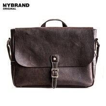 Mybrandoriginal натуральная кожа сумка для человека старинные мужчины Crossbody сумки высокого качества Мужская Портфель Сумочка B97
