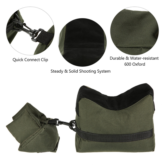 Front&Rear Bag Support Rifle Sandbag without Sand Sniper Hunting Target Stand Hunting Gun Accessories 2