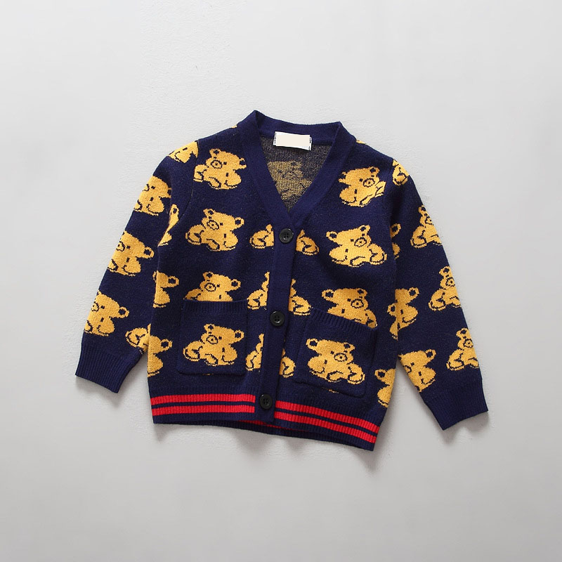 Autumn Children's Clothes Long Sleeve Cotton Baby Boys Cardigan Sweaters For Girls Causal Knitted Sweaters Tops