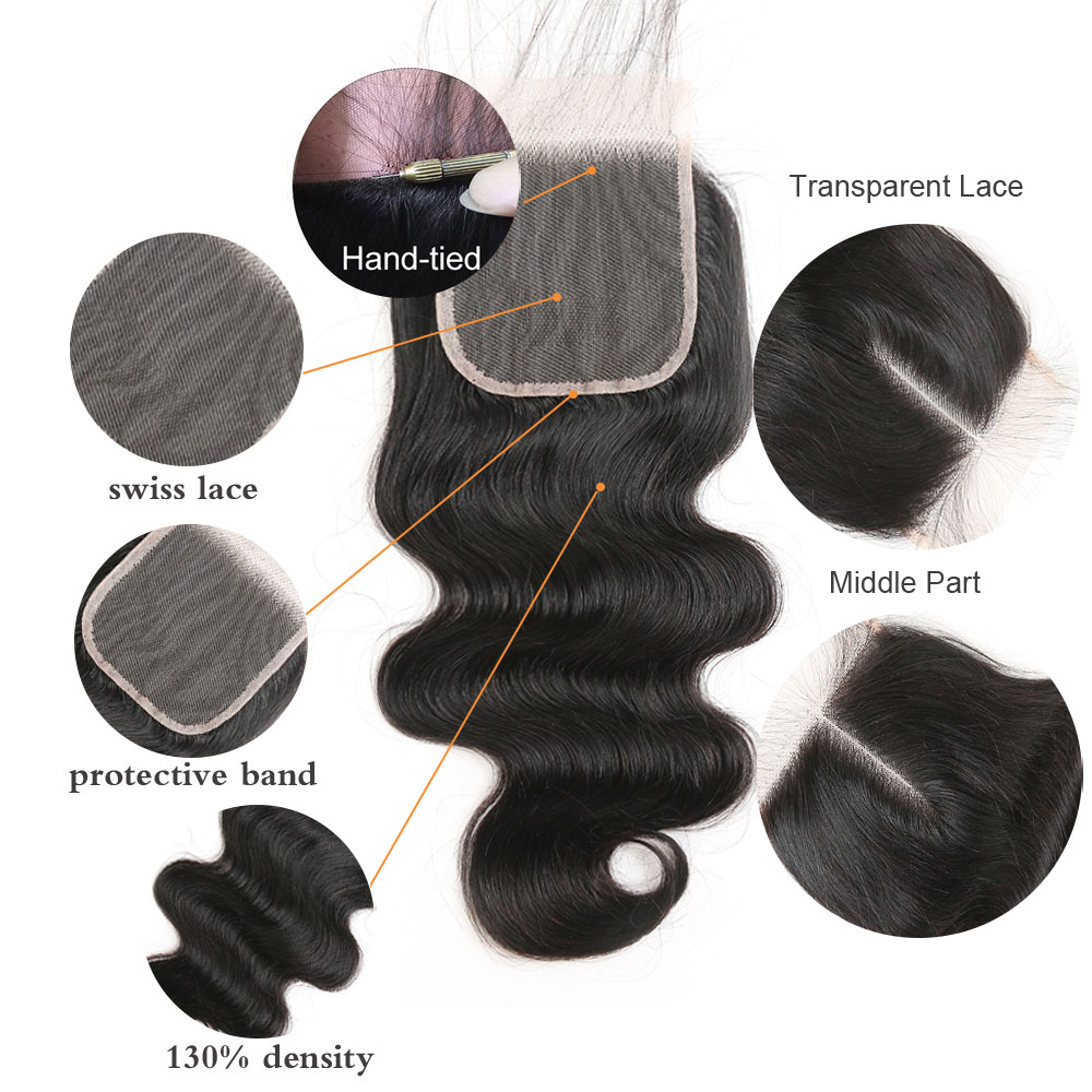 HTB171FGd8Gw3KVjSZFwq6zQ2FXar ALI ANNABELLE HAIR Brazilian Body Wave Remy Human Hair Bundles With Closure Brazilian Human Hair Weave Bundles with Closure