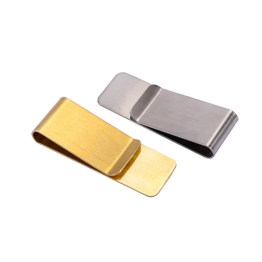 2019 Stainless Steel Slim Pocket Men Design Money Clip Wallet Cash ID Credit Card Business Dollar Holder