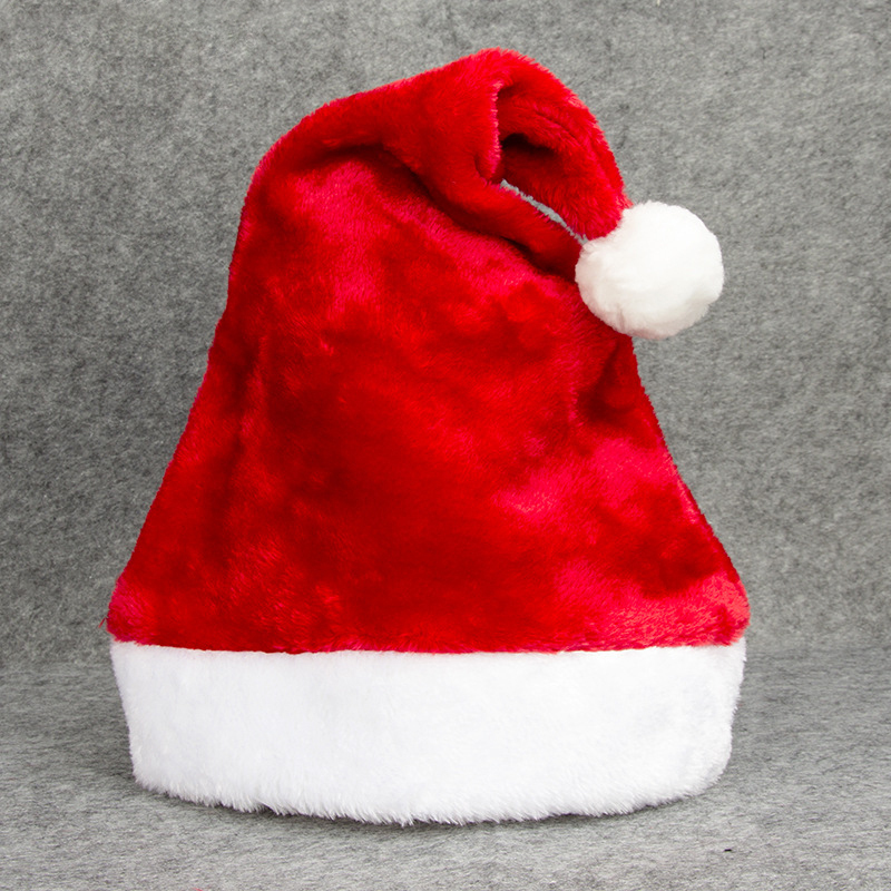 414215c170b Compre Clásico Sombrero De Navidad De Felpa Gorra De Navidad Niño ...