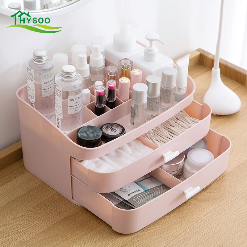 Type de tiroir boîte de rangement cosmétique multicouche boîte de produit de soins de la peau de bureau boîte de finition armoire de bureau