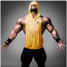 Mens Stringer Hoodie Tank Top Bodybuilding Gymnasium Clothing Fitness Sleeveless Singlet Shirt Deep ridge Tank Top Hoodies Male