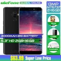 Ulefone S8 Pro 5.3 Inch Android 7.0 4G MT6737 Quad Core Smartphone 13MP+5MP 2GB RAM 16GB ROM 3000mAh Back Press Fingerprint ID