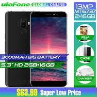 Ulefone S8 Pro 5,3 pulgadas Android 7,0 4G MT6737 Quad Core Smartphone 13MP + 5MP 2GB de RAM 16GB ROM 3000mAh prensa trasera huella dactilar ID
