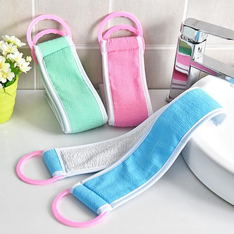 1PC Loofah Flower Bath Ball Bath Tubs Cool Belt Towel Scrubber Body Cleaning Mesh Shower Wash Sponge Bath Brush Rub Bathroom Set