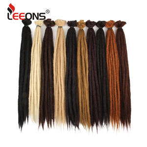 Leeons Crochet Hair Hair-Extensions Strands-Dreadlock Women Brown Black for 20-Inch