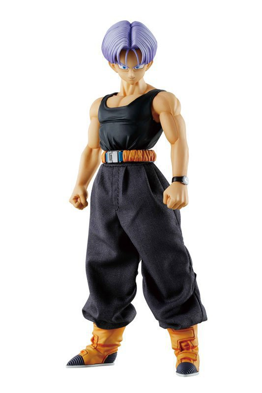 Huong Anime Figure 20 CM Dragon Ball Z DOD Trunks Real Clothes Vegeta Son PVC Action Figure Collectible Model Toys Dolls dragon ball z black vegeta trunks pvc action figure collectible model toy super big size 44cm 40cm