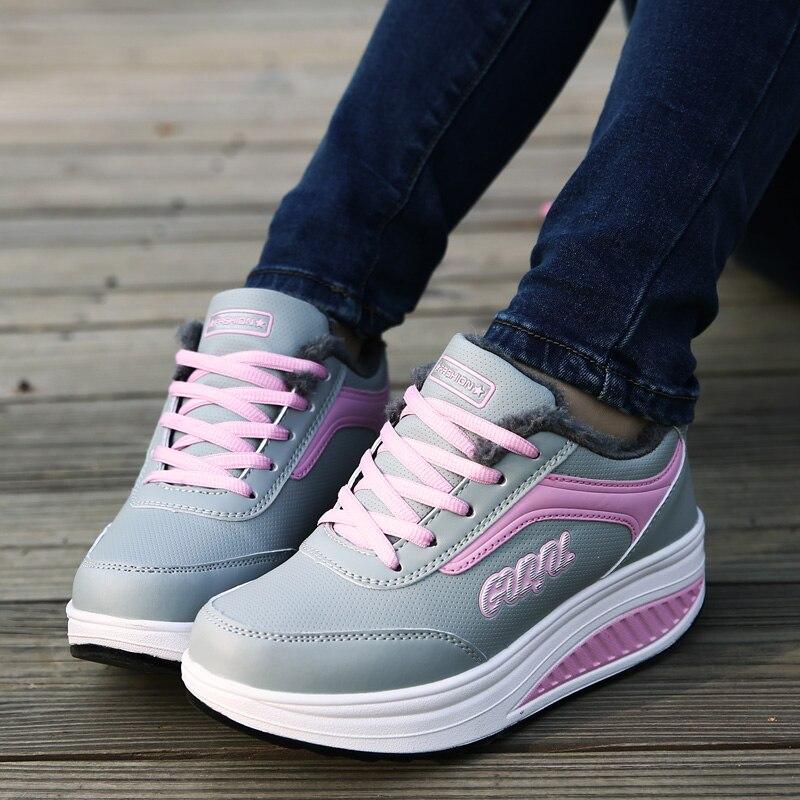 2017 Authentic autumn winter plus cashmere warm cotton shoes shaking shoes women sports shoes high quality basket femme sneakers