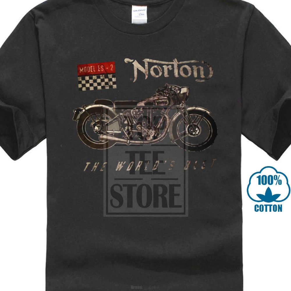 Norton модель мотоцикла Es 2 Лучший в мире футболка для мужчин и женщин размер S ~ Xxxl