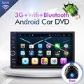 HD 1024X600 7 ДЮЙМОВ Универсальный 2Din 2 din Автомобильный DVD Радио плеер GPS Навигации Android 6.0 Четырехъядерных Процессоров 16 Г Флэш БЕСПЛАТНУЮ КАРТУ