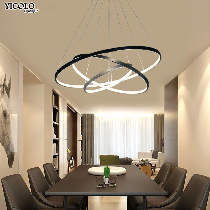 Schwarz Weiß Pendelleuchten Für Esszimmer Lampe Moderne Leuchten Abajur  Beleuchtung Glanz Vintage Led Pendelleuchtehinweis:1.kühles Weißes/Warmes  Weiß ...