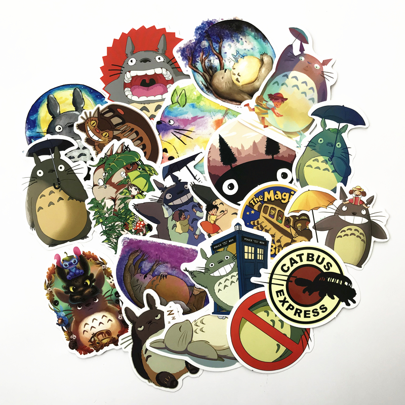 TD ZW 20 Pcs/lot Japanese Movie My Neighbor Totoro Cute Stickers For Car Laptop Phone Bicycle Luggage Decal Toy Sticker
