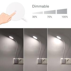 Image 2 - Luz LED de pared con enchufe regulable, lámpara de noche con brazo oscilante y enchufe de salida de potencia de 4W, 350LM, iluminación blanca Natural de 5000K