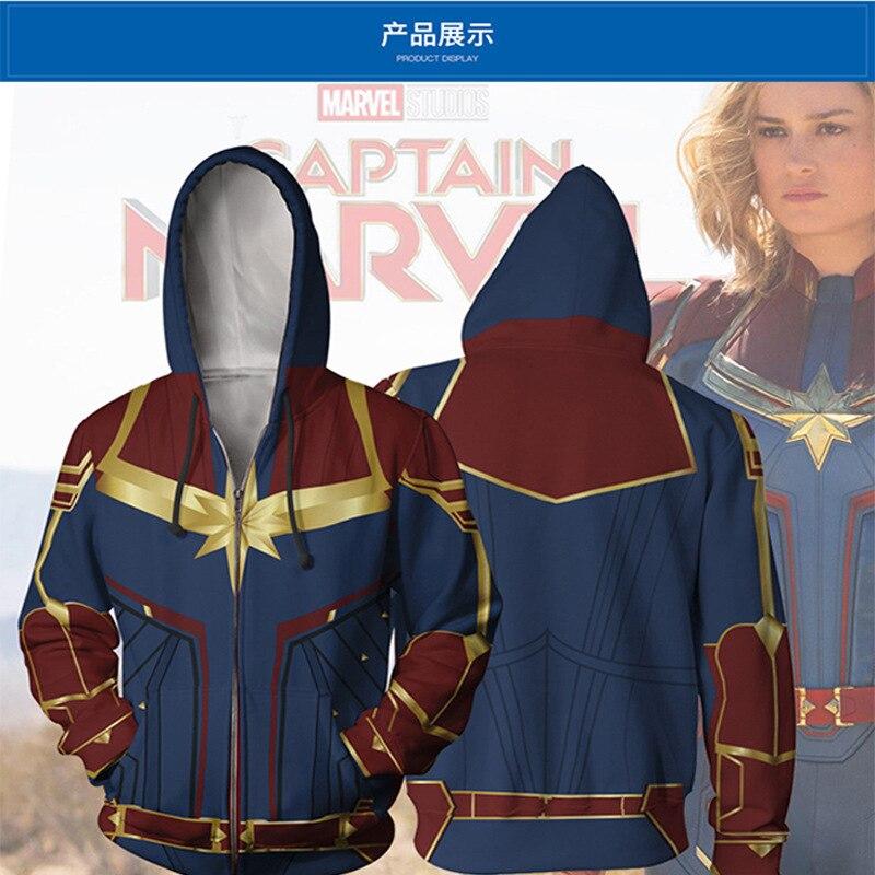 3D Printed Movie Marvel Captain Zipper Hoodies Men women Hiphop Streetwear Jackets 2019 New Design Mens Cool Tracksuits Clothing in Hoodies amp Sweatshirts from Men 39 s Clothing