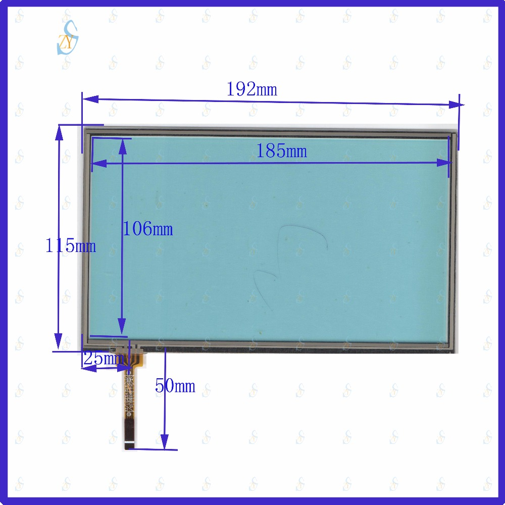 ZhiYuSun 192mm*115mm KDT-4438 8inch 4-wire resistive touch panel for Car DVD, 192*115 GPS Navigator screen  glass 800f 7 resistive screen win ce 6 0 car gps navigator black