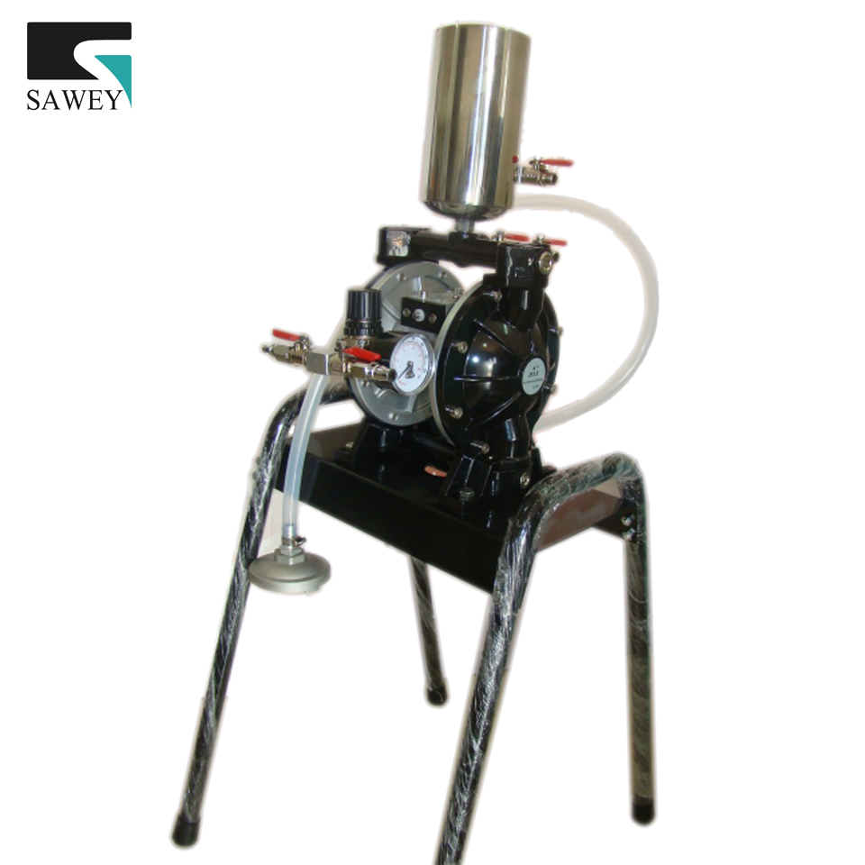 air powered double diaphragm pump with iron stand, BIG size, link with 8 spray guns maximum, to USA $5.5/kg by Fedex