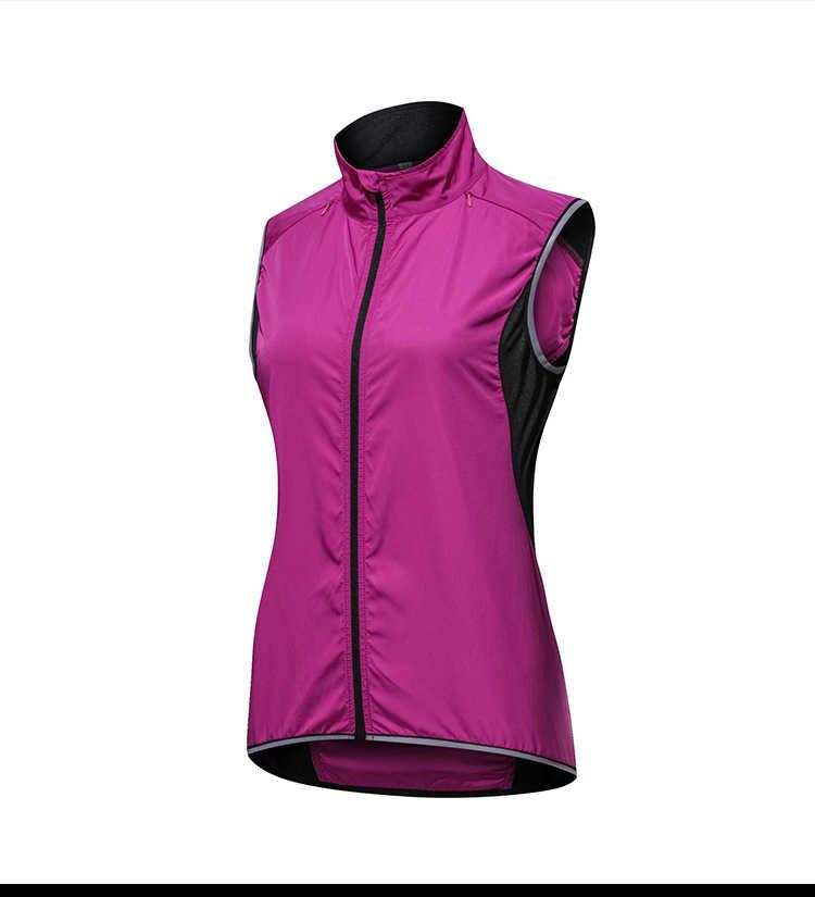 Vrouwen Outdoor Sportwear Winddicht Fietsen Mouwloos Vest Fiets Jerseys Wind Jas Waterdicht Fiets Roze Reflecterende Vest