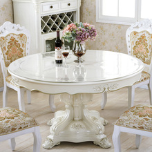 Round Plate PVC Tablecloths Disposable Waterproof Oil Soft Glass Plastic  Table Mat Transparent Coffee Table Pad