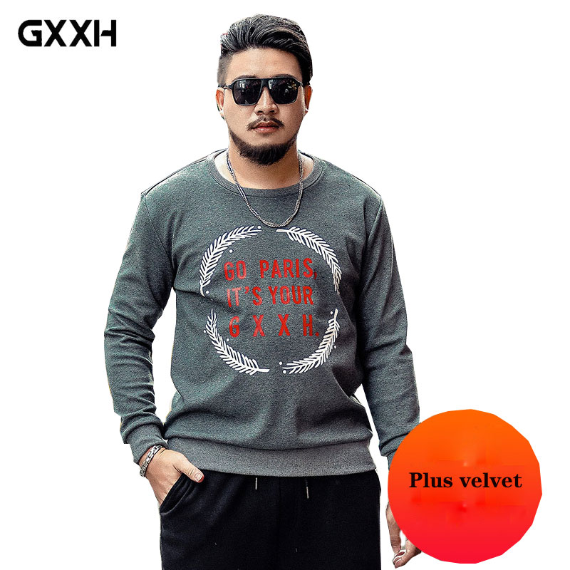 2019 new brand Winter Thick Warm Fleece jacket Men's Large size XXL XXL 4XL 5XL 6XL 7XL Sweatshirt Men's European Hoodie