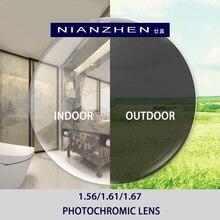 1.56 1.61 1.67 Fotochrome Recept CR 39 Hars Asferische Glazen Lenzen Bijziendheid Verziendheid Progressieve Zonnebril Lens