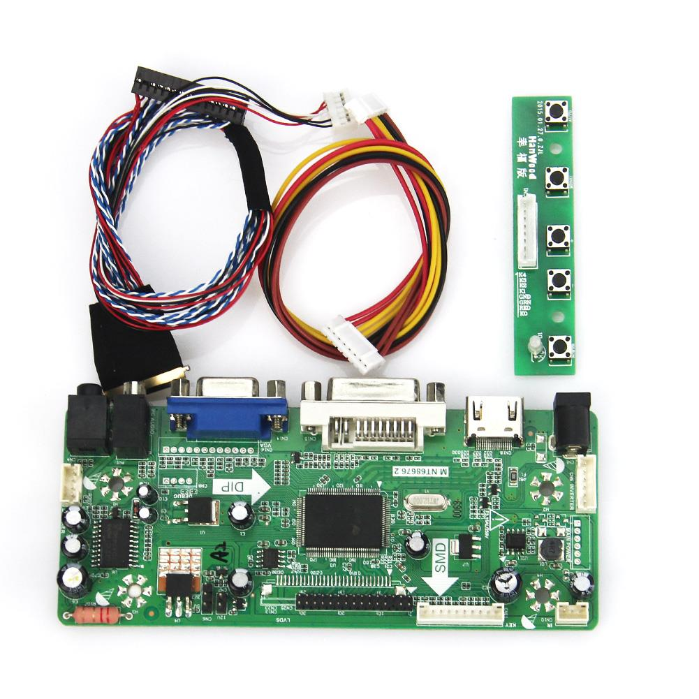 M.NT68676 LCD/LED Controller Driver Board For LP156WH4(TL)(A1)/(TL)(N1) (HDMI+VGA+DVI+Audio)1366*768