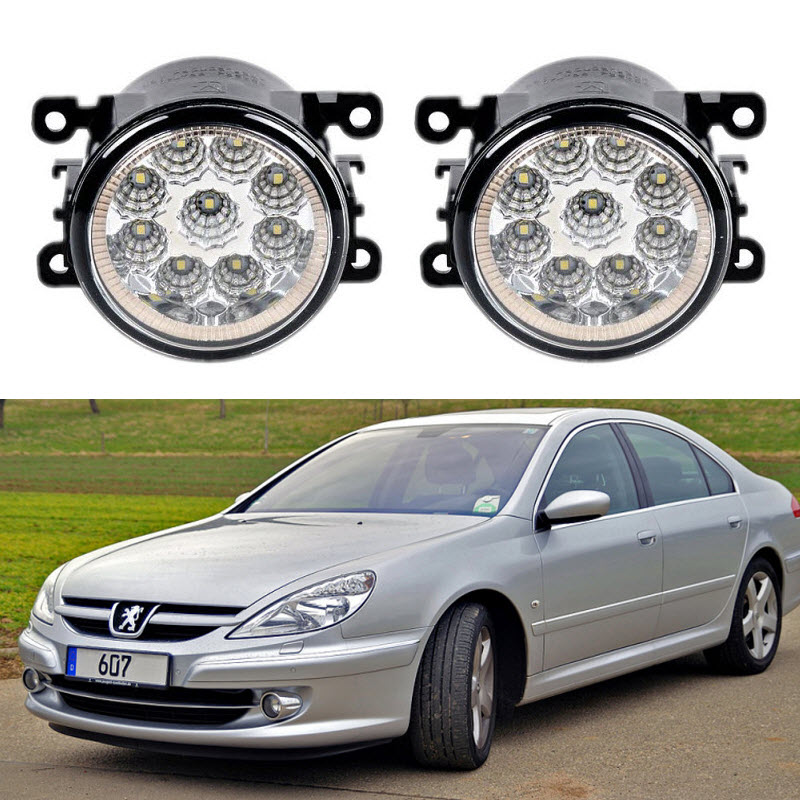 Car-Styling For <font><b>Peugeot</b></font> <font><b>607</b></font> 9D 9U 2000-2010 9-Pieces Led Fog Lights H11 H8 12V 55W Fog Head Lamp image