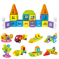 Magnetic Designer 318Pcs Mini Building Blocks With 1 Pocket Kids Educational Toys Birthday Christmas Gift