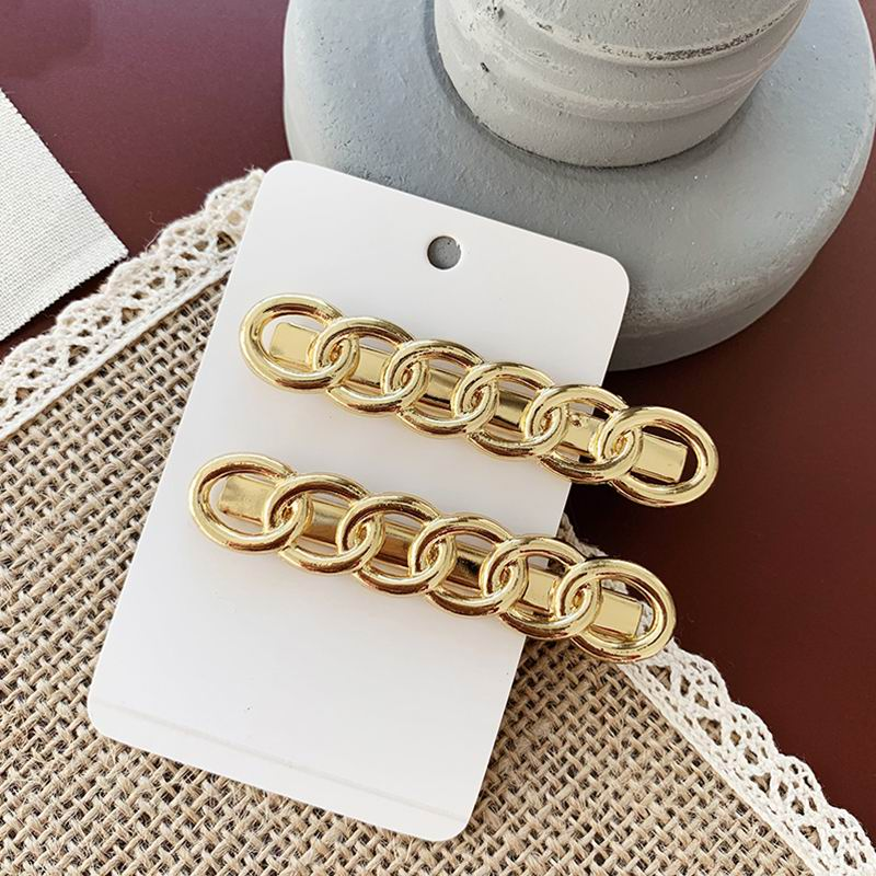 Simple Metal Chain Hairpins Gold Color Long Barrettes Hair Clips For Women Korea Fashion Hair Accessories